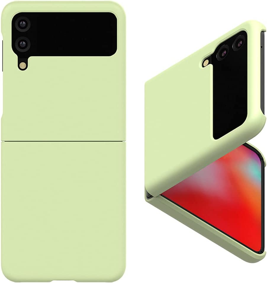 Alpha Pastel Slim Hard Designed for Galaxy Z Flip 3 5G Case (2021), Wireless Charging Support After Wearing (Green)
