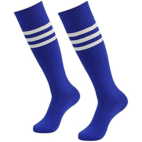 Weimay Männer Frauen Streifen Kniestrümpfe Elastisch Overknee Strümpfe Cheerleading Fußball Baseball Sport Baumwolle Lange Socken 1 Paar