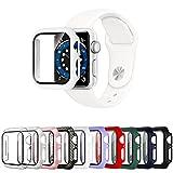 Mocodi 10 Pezzi Apple Watch Cover 44mm Series 6/5/4/SE con protezione per schermo in vetro...