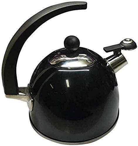 ASDFDG Estufa Top Tetera Cocina de inducción de Gas de Acero Inoxidable de la Caldera de silbido 2.5L Tetera Tetera cafetera