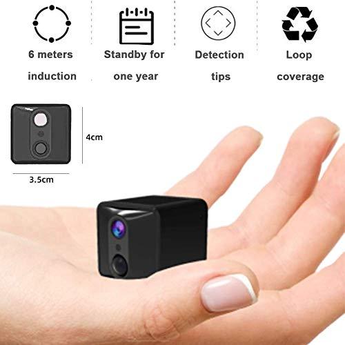 Mini cámara oculta, cámara, cámara inalámbrica 1080P, visión nocturna y detección de movimiento, cámara de vigilancia, cámara WiFi de seguridad para el hogar, la oficina y al aire libre, DUZG estándar