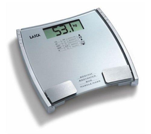 Laica PL8032, LCD, Plata, 310 x 40 x 306 mm, Litio-Ion, CR2032 - Báscula de baño