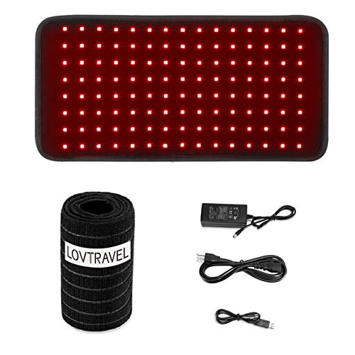 LOVTRAVEL New 660nm LED Red Light and 850nm Near Infrared Light Therapy Devices Large Pads Belt Wearable Wrap for Body Pain