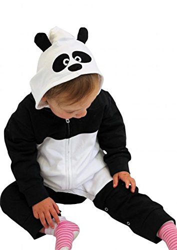 Cute Baby panda Onesie/Panda Baby costume/vestito carino Baby Gift Idea by Baby Moo da nero Black, White 6-12 mesi