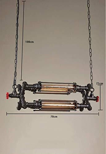 RONGW JKUNYU Lámparas Pendientes de araña de Estilo Retro Industrial creativos de la Personalidad 4 Luces/Tubo de Hierro Forjado de Techo de la lámpara (Color : A)
