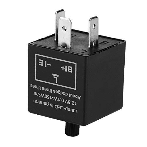 Fydun Relè automobilistico Relè intermittente 12V 3 pin CF13-JL02 LED di conversione frequenza regolabile per indicatore di direzione