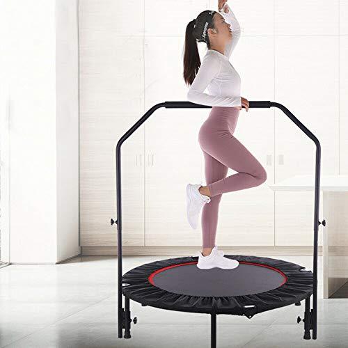 Trampolín de fitness, 127 cm, para yoga, salto de yoga, cama elástica de jardín, cama elástica redonda, para interior y exterior, capacidad de carga de 50 kg