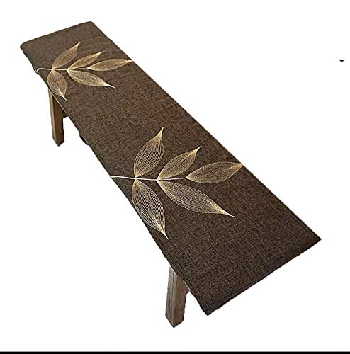 JY&WIN Thick Bench Cushion, 2 3 4 Seats Bench Cushion for Garden Furniture Long Seat Cushion for Indoor Outdoor, Dining Bench Mat with Fastening Ties, Non-slip Bottom