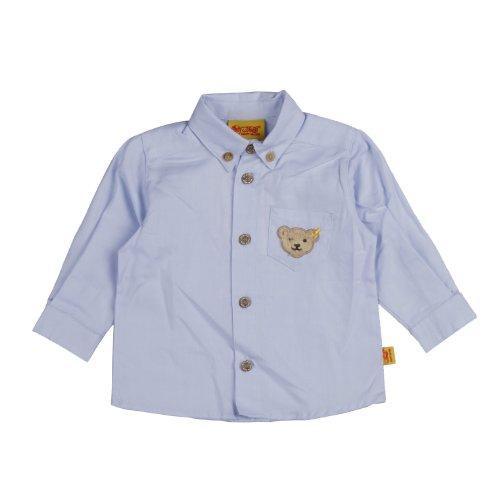 Steiff Baby - Jungen Hemd 6323553, Gr. 74, Blau (3023)