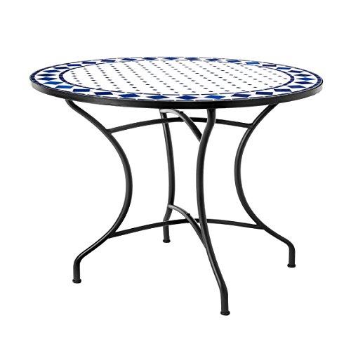 Mesa de jardín o Comedor de cerámica Azul Garden - Lola Derek