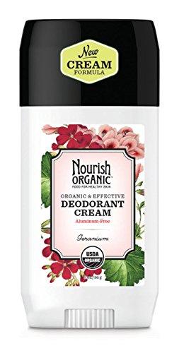 Nourish Organic | Organic Deodorant - Geranium | GMO-Free, Cruelty Free, Organic (2oz)