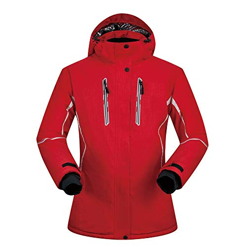 Veste De Ski pour Les Femmes Veste De Snowboard Chaud Hiver Rembourré Garçons Imperméable Coupe-Vent Respirant À Capuche (Color : B, Size : XXL)