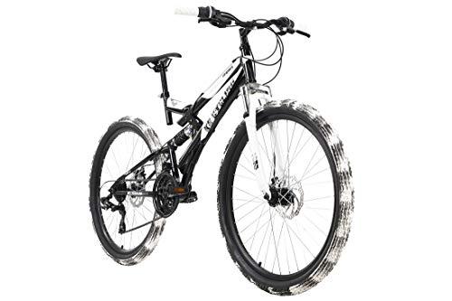 KS Cycling Mountainbike Fully ATB 26'' Crusher schwarz-weiß RH 46 cm
