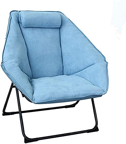 ZGYZ Folding Lounge Chair,Modern Relax Recliner Upholstered Leisure Sofa Chair with Hexagonal Seat for Living Room,Bedroom,Balcony,Family Practical Chair