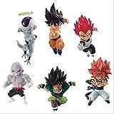 Kshong 6 Habitaciones 5-6 cm Banabro Dragón Bola Adverge Motion 3 Figurines Set Goku Frieza Vegeta Broly Gogeta Jiren PVC Figurine Juguetes Muñecas Dolls