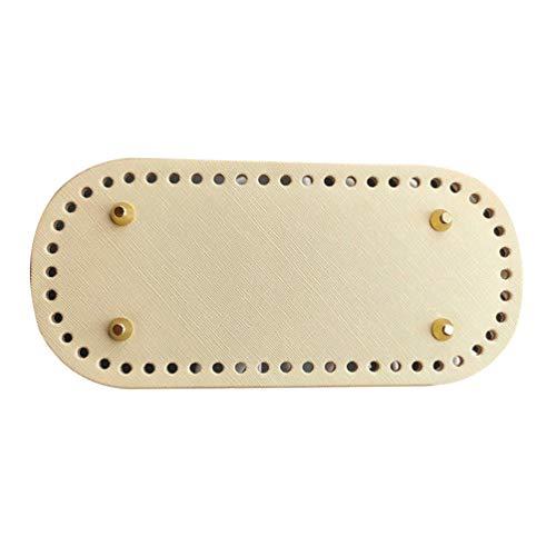 Supvox DIY Stricken Häkeln Beutel Bottom Shaper Pad Einsatz Handtasche Base Shaper Pu Leder Tasche Bottom Shaper für Handtasche DIY Zubehör