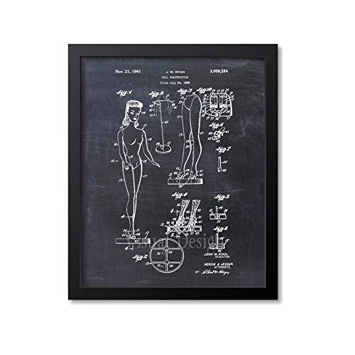 MG global Barbie Doll Patent Print - Patente de impresión - Juguete - Decoración para niños - Arte de niña- 18x24 inches Poster