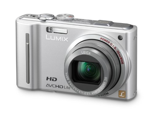 Panasonic Lumix DMC-TZ10EG-S Digitalkamera (12 Megapixel 12-fach opt. Zoom, 7,6 cm (3 Zoll) Display, Bildstabilisator, Geo-Tagging) silber