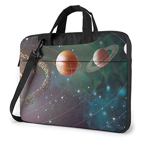 Laptop Case, Planet Space Solar System Print Laptop Shoulder Bags Multi-Functional Notebook Sleeve,13-14-15.6 Inch