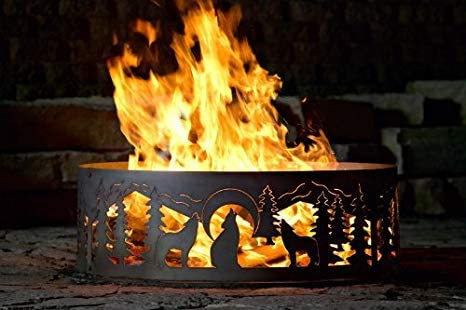 Wolves Fire Ring In stock Small Translated Size: