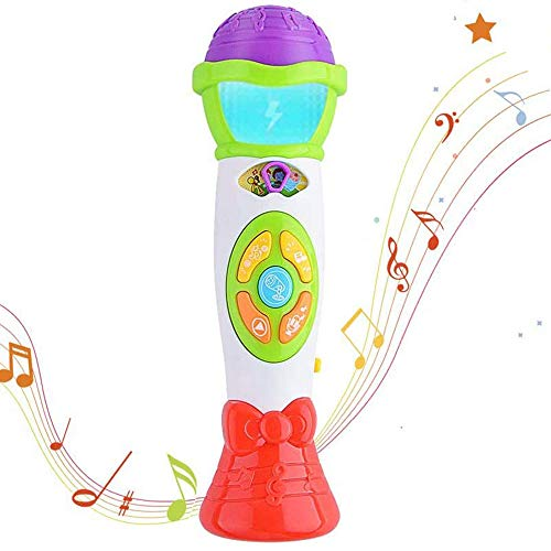 ThinkMax Kids Microphone Toy, Voice Changing and Recording Microphone...
