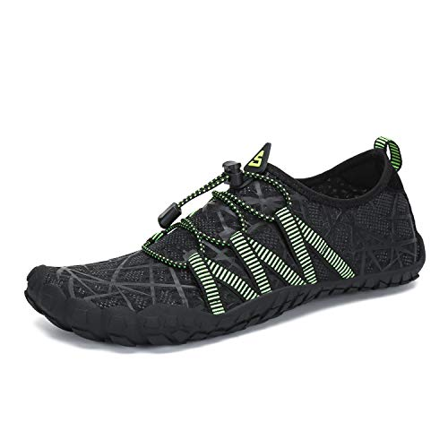SAGUARO Mens Womens Minimalist Barefoot Gym Shoe Trail Runner Black