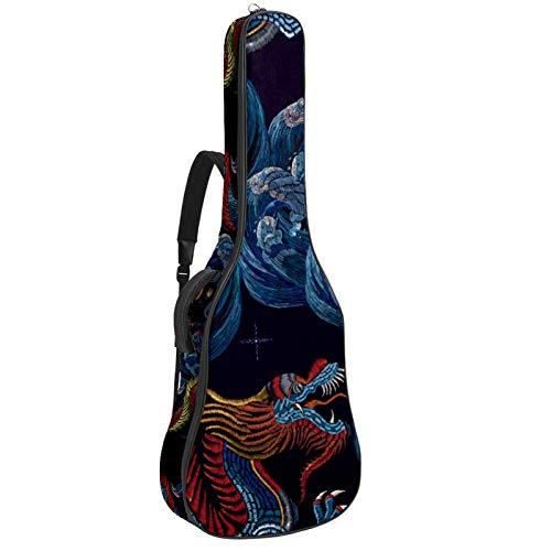 Funda de Guitarra Dragon Chino Bolso de guitarra 40 41 pulgadas 10mm...