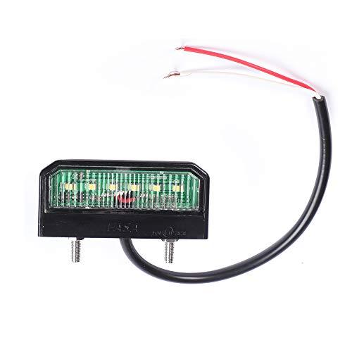 AOHEWEI Helle LED Kennzeichenbeleuchtung Nummernschildbeleuchtung Wasserdichte Heckleuchte 12~24V Für LKW Anhänger RV Auto oder Andere Nutzfahrzeuge (1 stck)