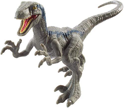 Jurassic World Dinosaurio Velocirraptor de ataque, dinosaurio de juguete (Mattel FPF12)