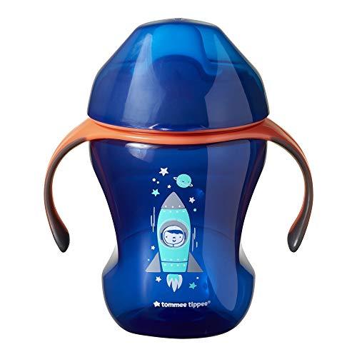 Tommee Tippee Trinklernbecher Sippee Cup mit Griffen und weichem Ausguss, auslaufsicher, 7+ Monate, Blau