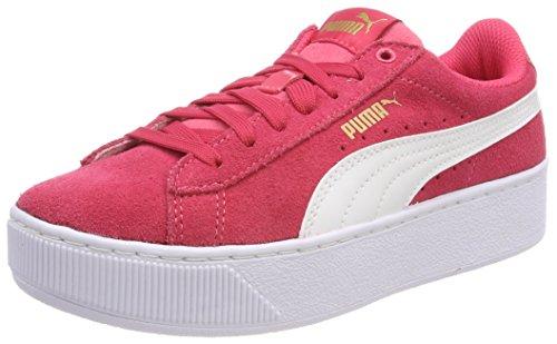 Puma Unisex Vikky Platform Jr Sneaker, Pink (Paradise Pink White), 39 EU