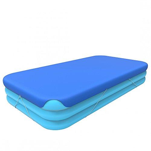 Jilong 57011 Pool Cover Telo Copertura per Piscine Rettangolari 366x193x56 cm, Blu, 366 x 193 x 56 cm