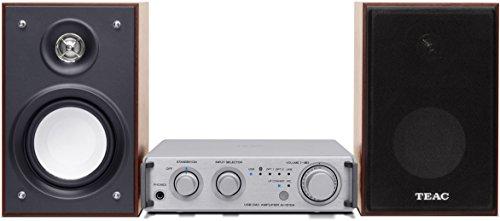 Teac HR-S101 (SD) HD-Microsystem (2x 26 Watt, USB, Bluetooth, aptX, Player-Software für Windows/Mac) silber/holzfarben
