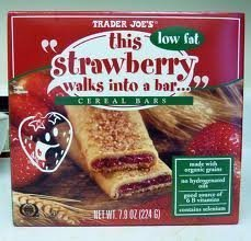 2 Pack Trader Joe's This Strawberry Walks Into a Cereal Bar 6 Bars