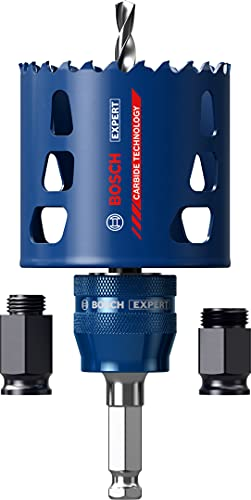 Bosch Professional 1x Expert Tough Material Lochsäge Starter Set (für Holz mit Metall, Ø 68 mm, Zubehör Schlagbohrmaschine)