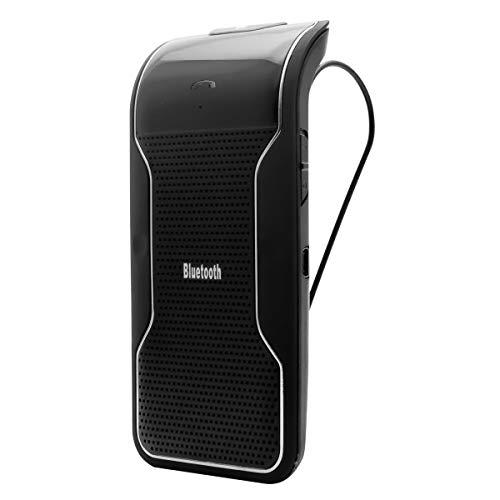 MASO Haut-Parleur Bluetooth de Voiture Mains Libres avec visière de Voiture et Lecteur de Musique stéréo pour Voiture sans Fil Bluetooth