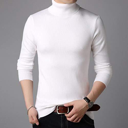 TOSISZ winterkraag, dik, warm, heren pullover, hoge kraag, voor heren, slim fit, truien, heren, gebreide kleding, dubbele kraag, S-3XL