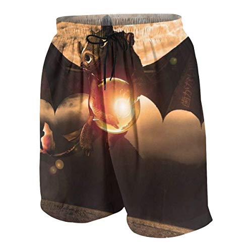 RTRTRT Jungen Black Dragon Beach Badehose Atmungsaktive Taille Classic Beach Shorts