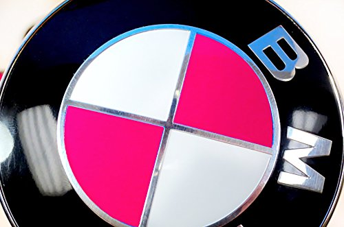 Hot Pink Magenta Sticker Overlay Vinyl for All BMW Emblems Caps Logos Roundels