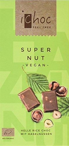Vinani iChoc Bio vegan Tafel, Super Nut, 10er Pack (10 x 80 g)