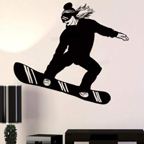 Pegatinas De Pared 58X65 cm Chica Ski Wall Sticker Decal Tabla De Esquí Vinyl Wall Decals Decoración Mural Ski Car Snowboard Decal Sticker