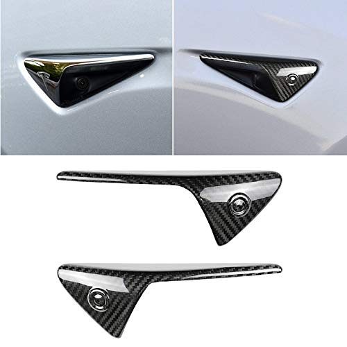 Auto Buitenkant Stickers Koolstofvezel Car-Styling Fender Bumper Decoratieve Strip, voor Tesla Model 3 (2 PCS)