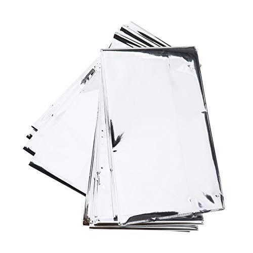 Rettungsdecke Rettungsfolie für Erste Hilfe Notfalldecke Sicherheitsdecke Kälteschutz Hitzeschutz Silber 160 x 210cm