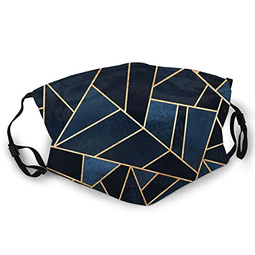 NOT Fashion Comfortable Face MaskNavy Stone Adult Dust Mask Black Sun-Proof Fashion Bandana Headwear for Fishing