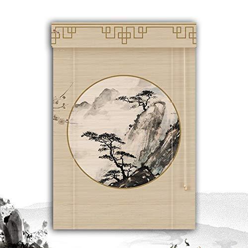 HAIPENG-Persianas Estores De Bambú Enrollable Ventanas Enrollar Ventana Persianas Sombras Veneciano Ciego por Armario Sala Comedor Vendimia (Color : A, Size : 140X225CM)