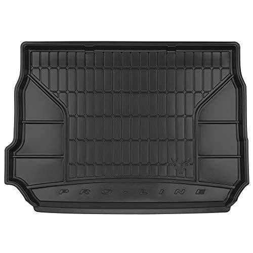 DBS Tapis de Coffre Auto - sur Mesure - Bac de Coffre pour Voiture - Rebords Surélevés - Caoutchouc Haute qualité - Antidérapant - Simple d