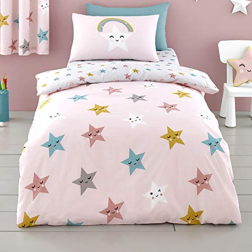 Cosatto - Happy Stars - Duvet Cover Set - Junior Bed Size in Pink