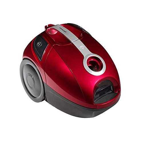 CONCEPT VP8370 Dust Vacuum Cleaner avec brosse parquette 800 W, sac Volume 2 l, db 76, rouge + argent, plastique 2 l