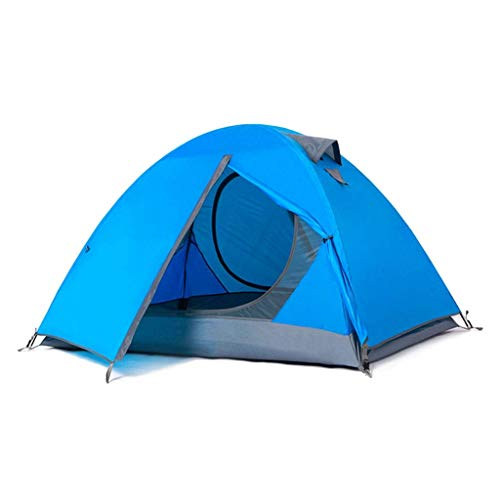 JUNYYANG  HWZP Camping Tent With Double Waterproof Fabric Design Unisex Portable Travel Equipment Suitable For All Seasons