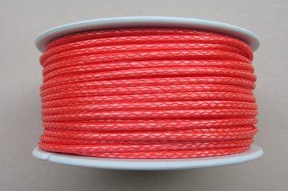 Gepotex Dyneema Flechtschnur Seil Dyneemaseil Flechtleine aus Dyneema - Durchmesser 2mm - 30 Meter Fb. rot